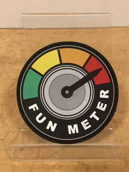 Fun Meter   velcro patch