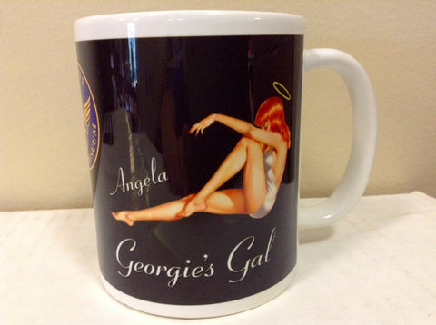 "B-25 ""Georgie's Gal"" Nose Art Mug"