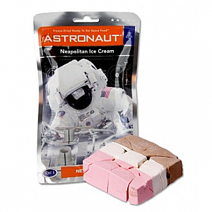 Astronaut Ice Cream Freeze-Dried in Neapolitan & Mint Chocolate
