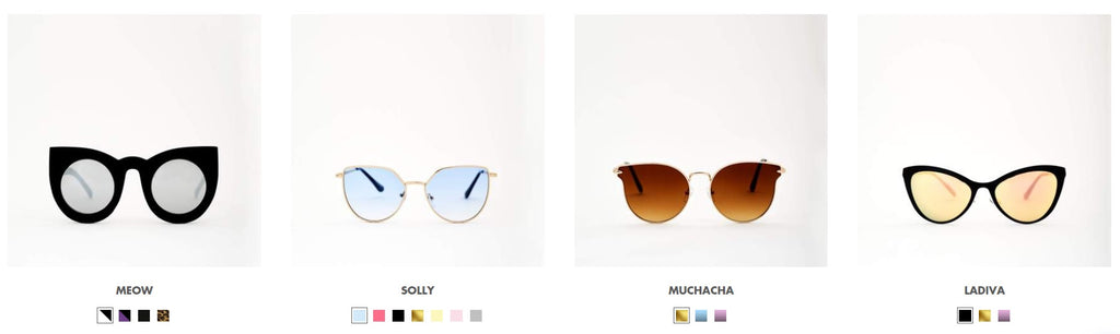solful ibiza vintage women cat eye sunglasses collection