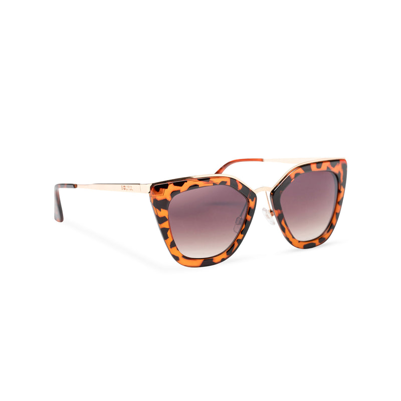 SOLFUL Big Ibiza chic cat-eye sunglasses tortoiseshell leopard cat front cover side
