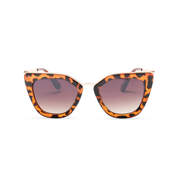 SOLFUL Big Ibiza chic cat-eye sunglasses tortoiseshell leopard cat front cover