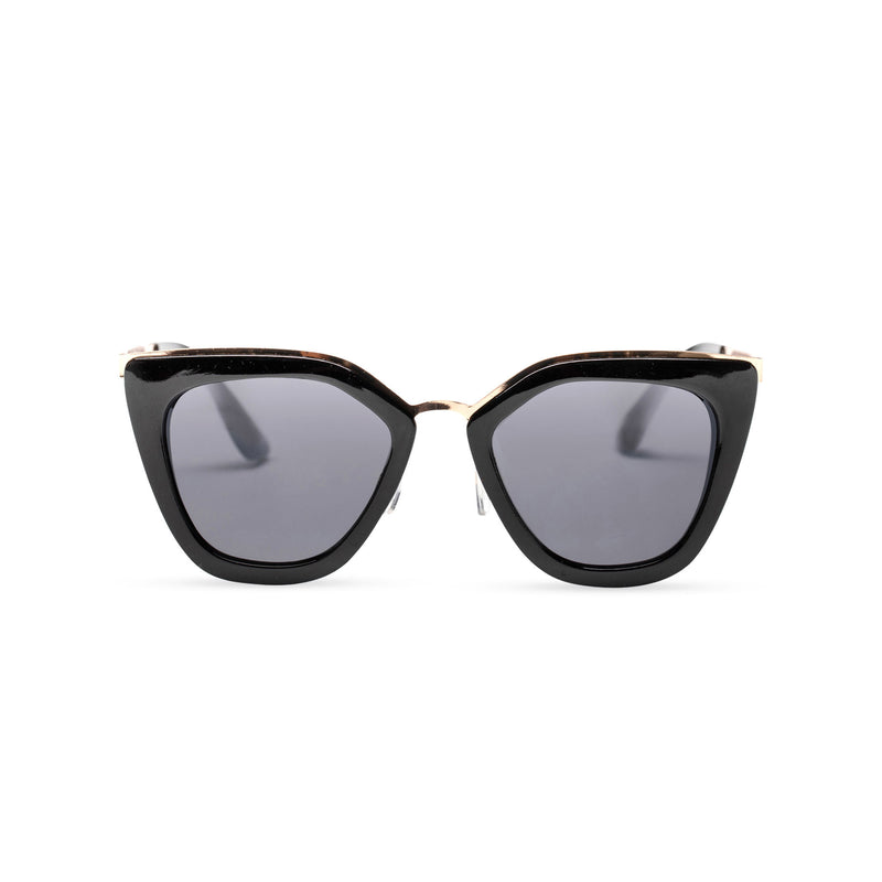 SOLFUL Big Ibiza chic cat-eye sunglasses black cat front cover