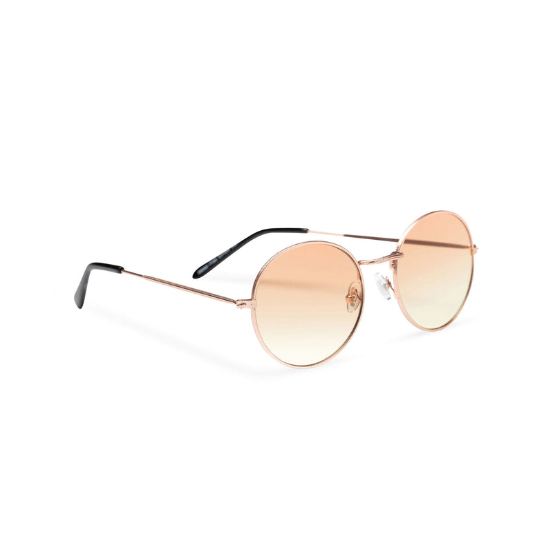side light brown coffee fine medium round John Lennon sunglasses hippie style shades