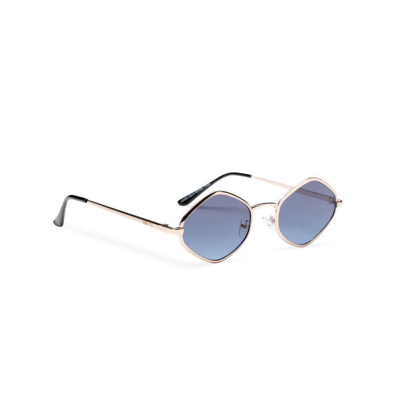 side JOSEP small blue mirror lens UV 400 Metal diamond shape metal sunglasses SOLFUL Ibiza