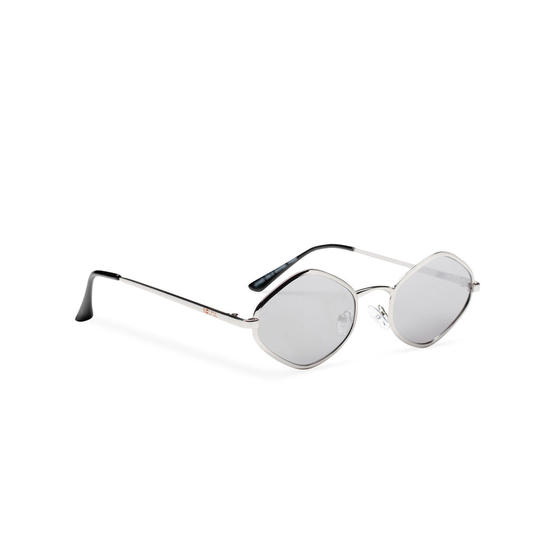 side JOSEP small silver mirror lens UV 400 diamond shape metal sunglasses SOLFUL Ibiza