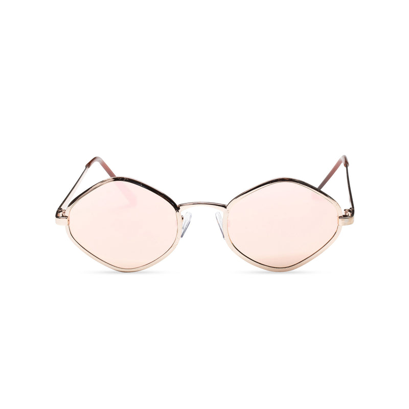 JOSEP small pink mirror lens UV 400 Metal diamond shape metal sunglasses SOLFUL Ibiza