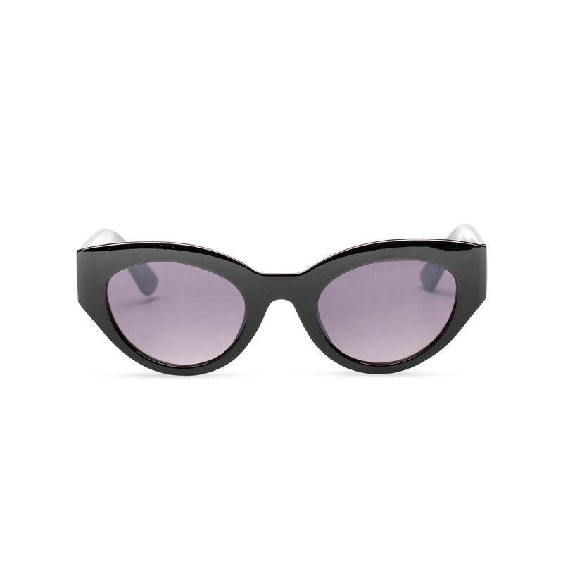 maroon dark RAFAELA broad plastic stylish cut out big cat eye sunglasses Ibiza front