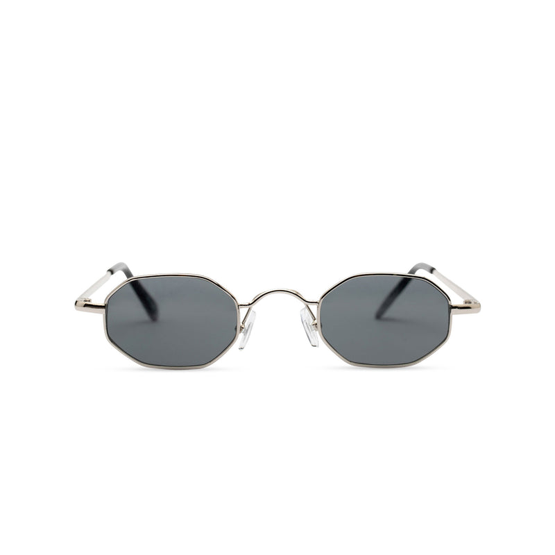 Small hexagon metal frame sunglasses with dark lens HEXMEX SOLFUL Ibiza