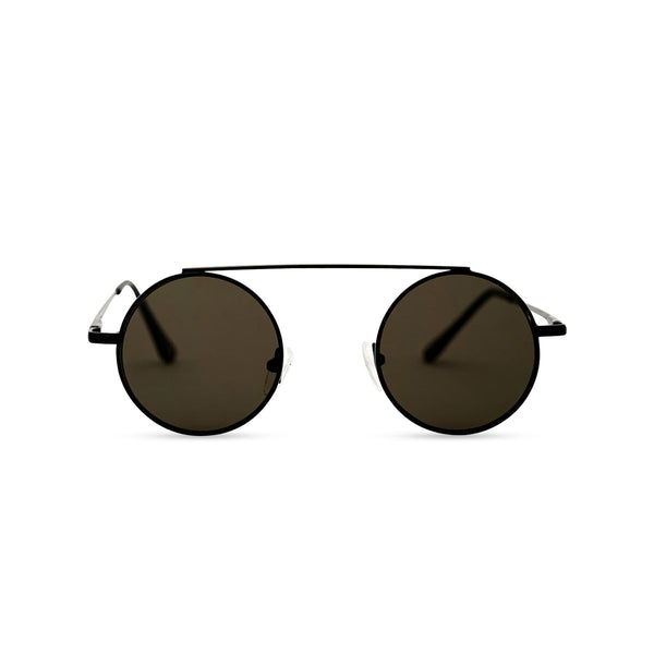 Black dark John Lennon sunglasses retro vintage by SOLFUL Ibiza