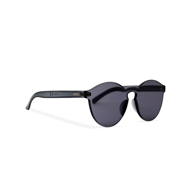 SOLFUL side view solid transparent black plastic sunglasses perfect party Ibiza rave day and night sunglasses PASTIKA