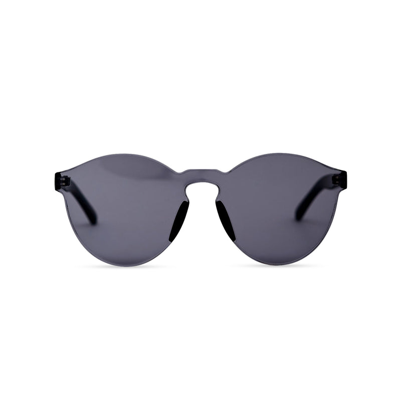 SOLFUL solid transparent black plastic sunglasses perfect party Ibiza rave day and night sunglasses PASTIKA