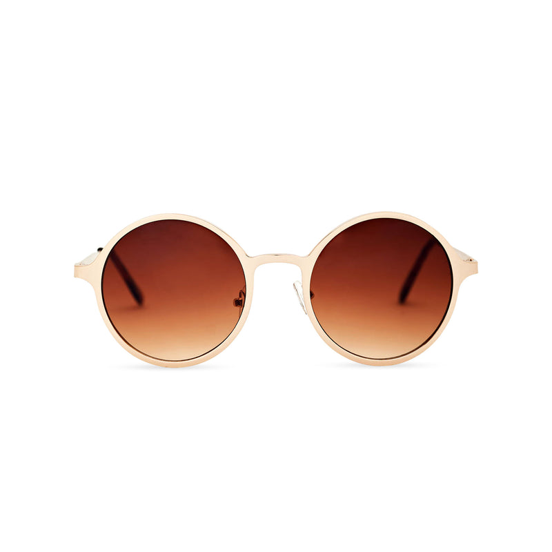 SOL a classic round brown vintage retro hippie sunglasses by SOLFUL Ibiza