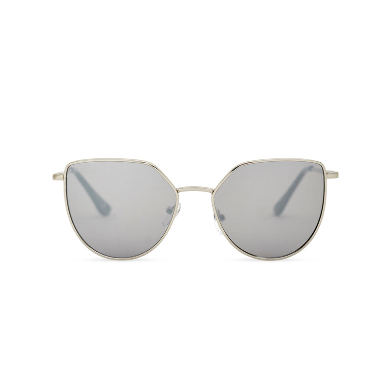 Women gold cat eye sunglasses with grey transparent lens SOLLY by SOLFUL Ibiza