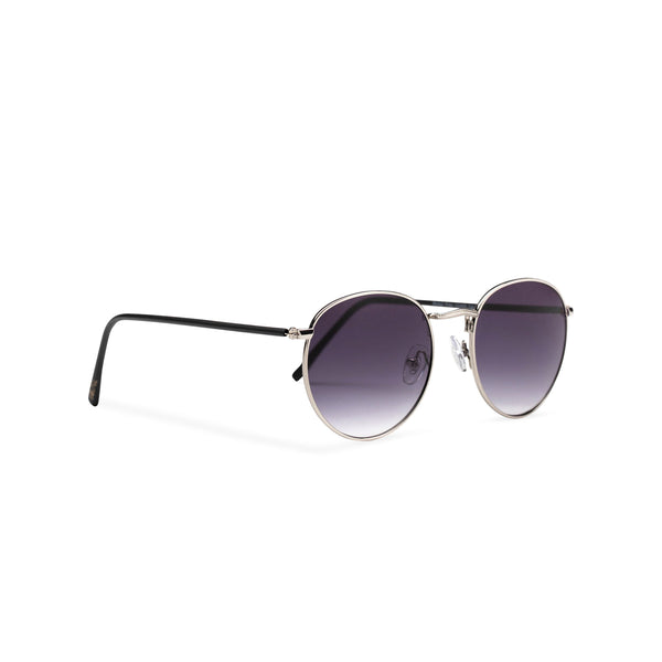 Designed round hipster metal sunglasses men and women UV 400 dark purple lens SOLFUL Ibiza shades side