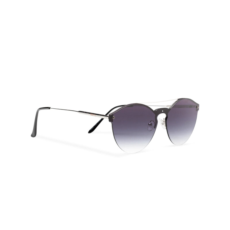 Mirror black-velvet ibiza weekender style sunglasses by SOLFUL side view
