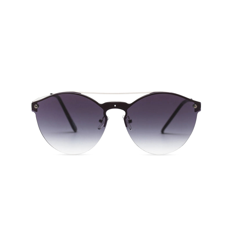 Mirror black-velvet ibiza weekender style sunglasses by SOLFUL