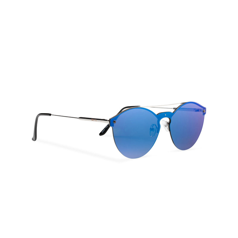 Side view mirror blue ibiza weekender style sunglasses by SOLFUL