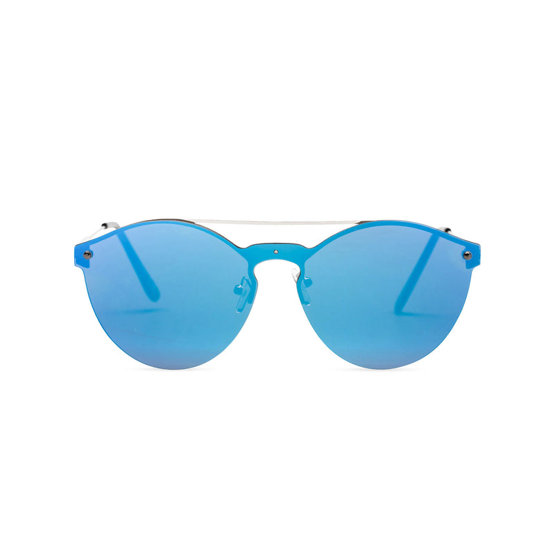 Mirror blue ibiza weekender style sunglasses by SOLFUL wayfarer