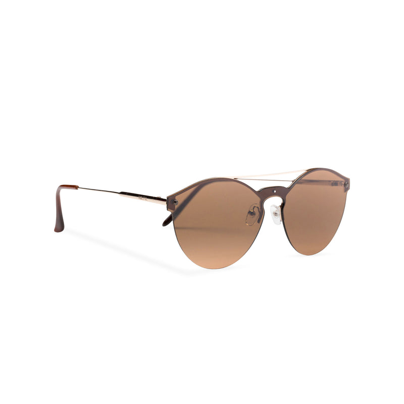Mirror brown ibiza weekender style sunglasses by SOLFUL side view