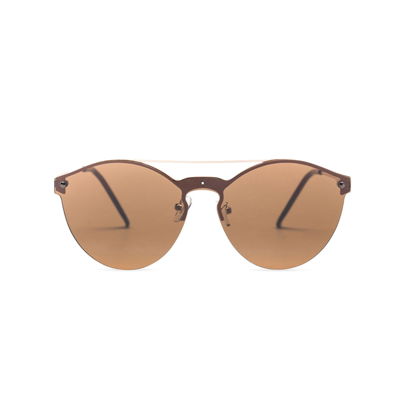 Mirror brown ibiza weekender style sunglasses by SOLFUL wayfarer