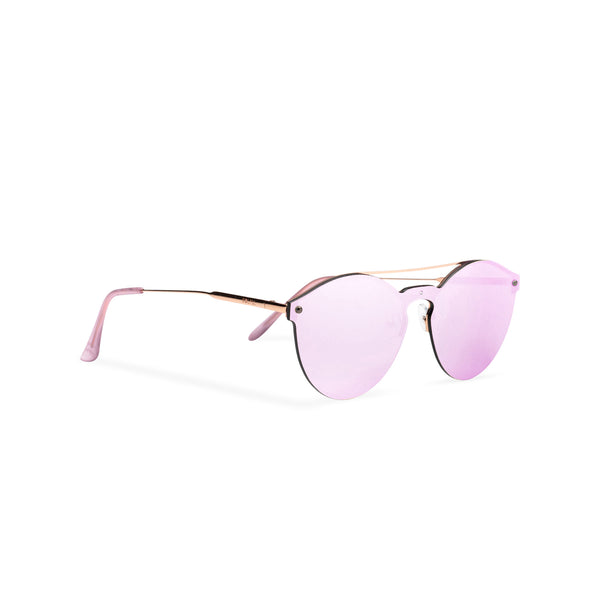 Mirror pink ibiza weekender style sunglasses by SOLFUL side view