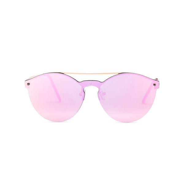 Mirror pink ibiza weekender style sunglasses by SOLFUL wayfarer