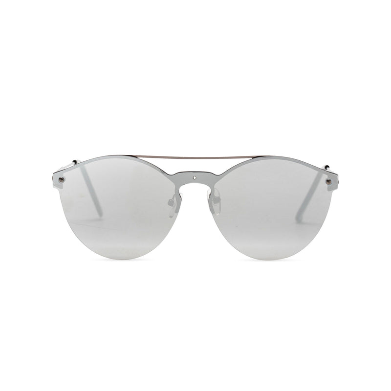 Mirror silver ibiza weekender style sunglasses by SOLFUL wayfarer