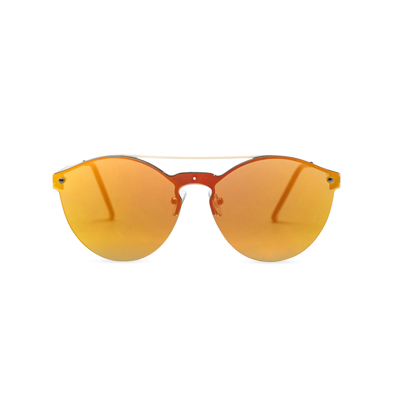 Mirror orange-red mirror ibiza weekender style sunglasses