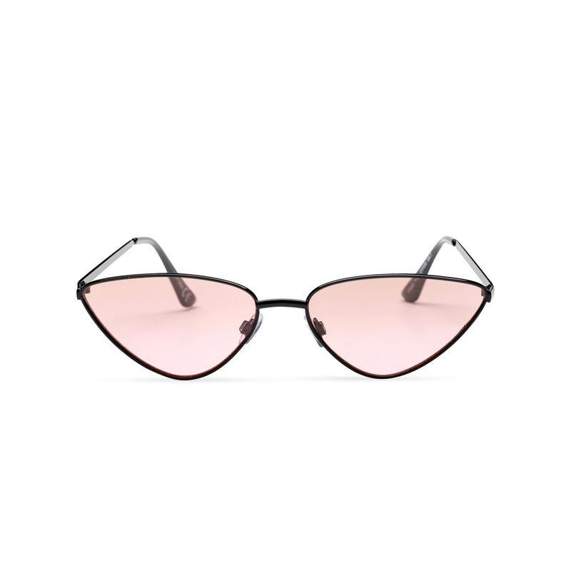 pink transparent black small tiny cat eye sunglasses hipster style narrow Ibiza shades