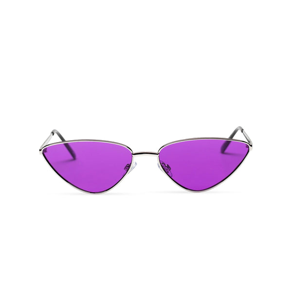 purple transparent black small tiny cat eye sunglasses hipster style narrow Ibiza shades