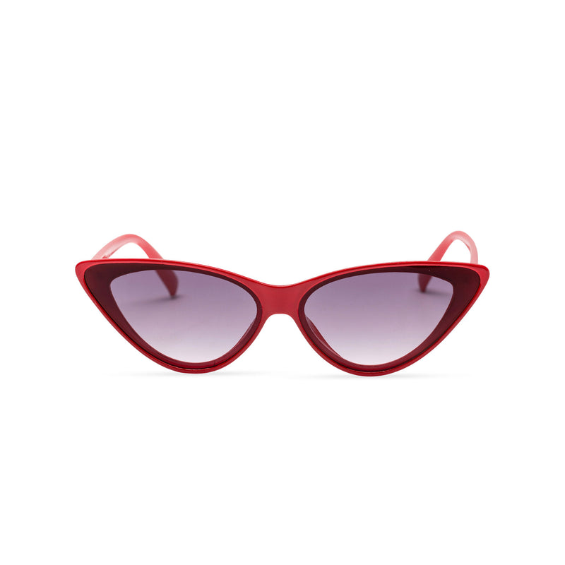 front red frame dark lens GUIDO cat eye sunglasses of the future flat dark lens polycarbonate