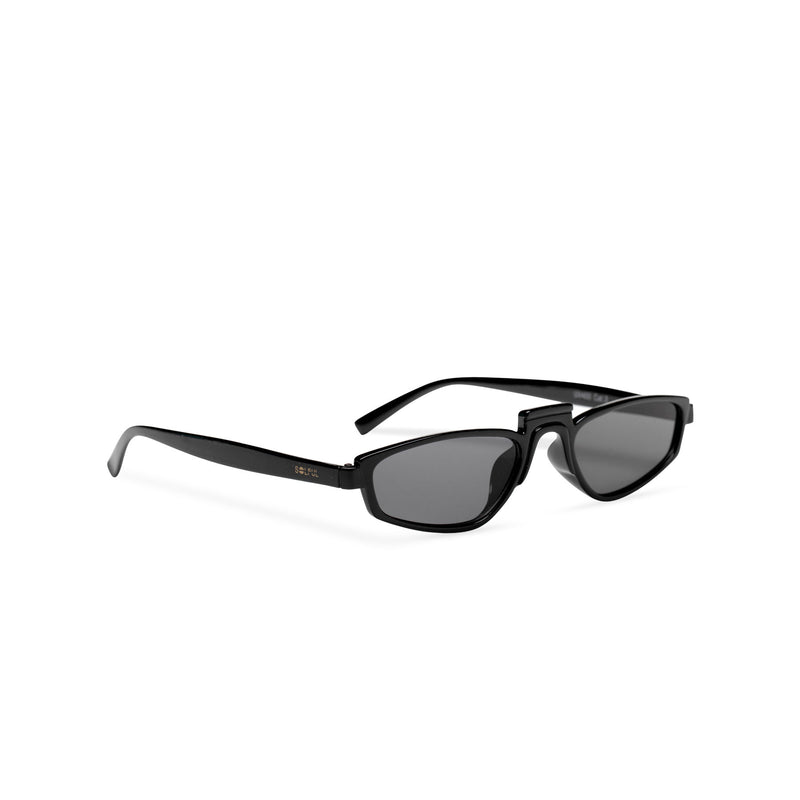 side BANDIDO black tiny square sunglasses flat dark black lens UV 400