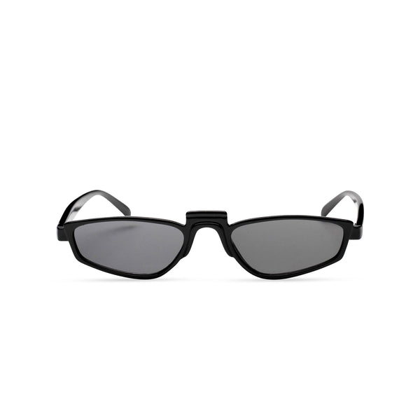 BANDIDO black tiny square sunglasses flat dark black lens UV 400