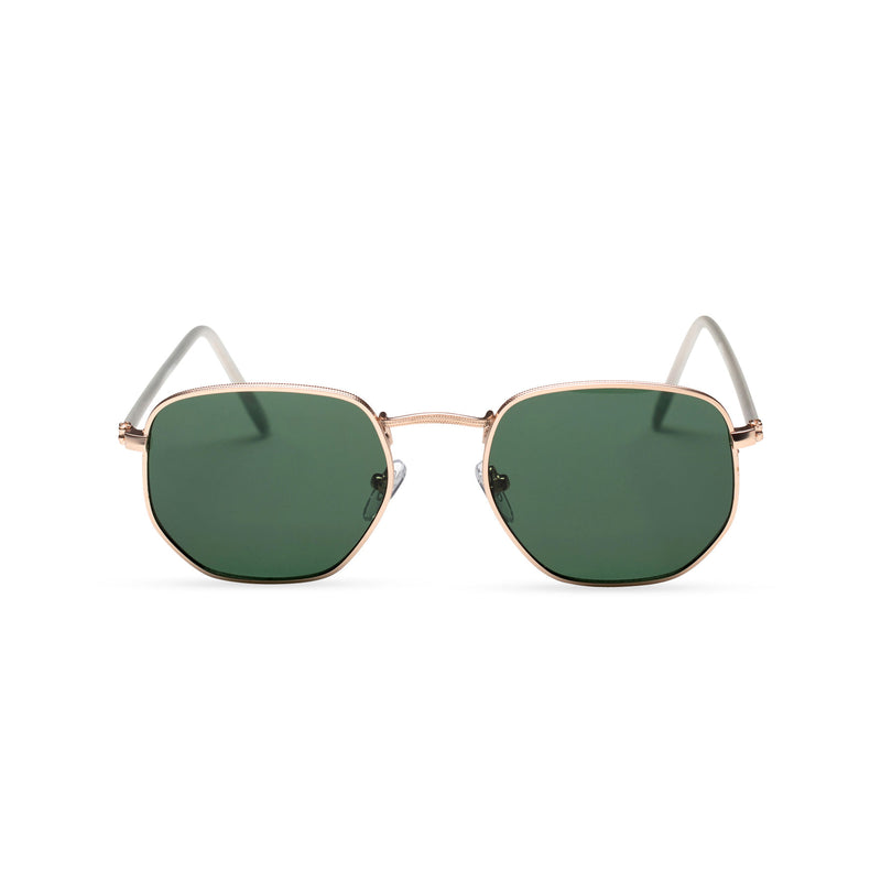 front dark green WONDER medium-small hexagon sunglasses hipster hexagonal shape shades