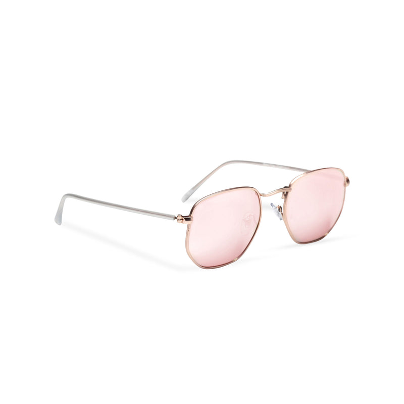 side mirror pink WONDER medium-small hexagon sunglasses hipster hexagonal shape shades