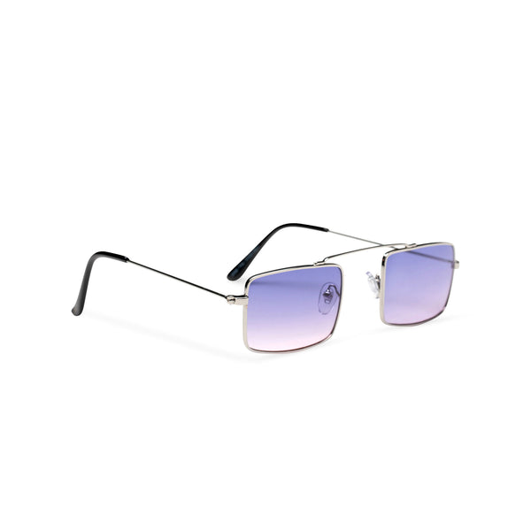 side light purple-blue small square sunglasses hipster style colorful Ibiza metal shades
