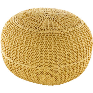 Surya Butter Yellow Dita Outdoor Pouf
