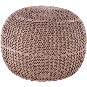 Surya Dita Outdoor Pouf in Taupe