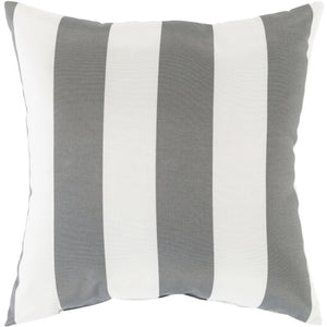 Gray & White Poolhouse Pillow | Surya PLH-002