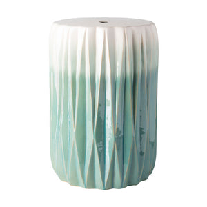 Aynor Garden Stool by Surya in Aqua