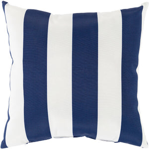 Navy & White Poolhouse Pillow | Surya PLH-001