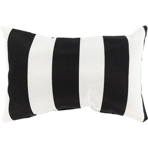 Black & White Lumbar Poolhouse Pillow | Surya PLH-003