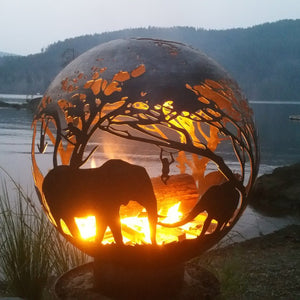Savannah Wood Burning Fire Sphere