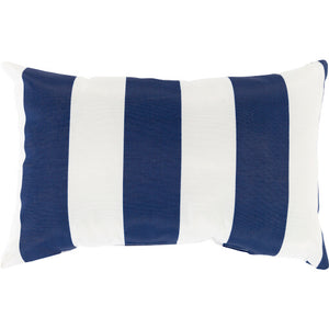 Navy & White Poolhouse Lumbar Pillow | Surya PLH-001