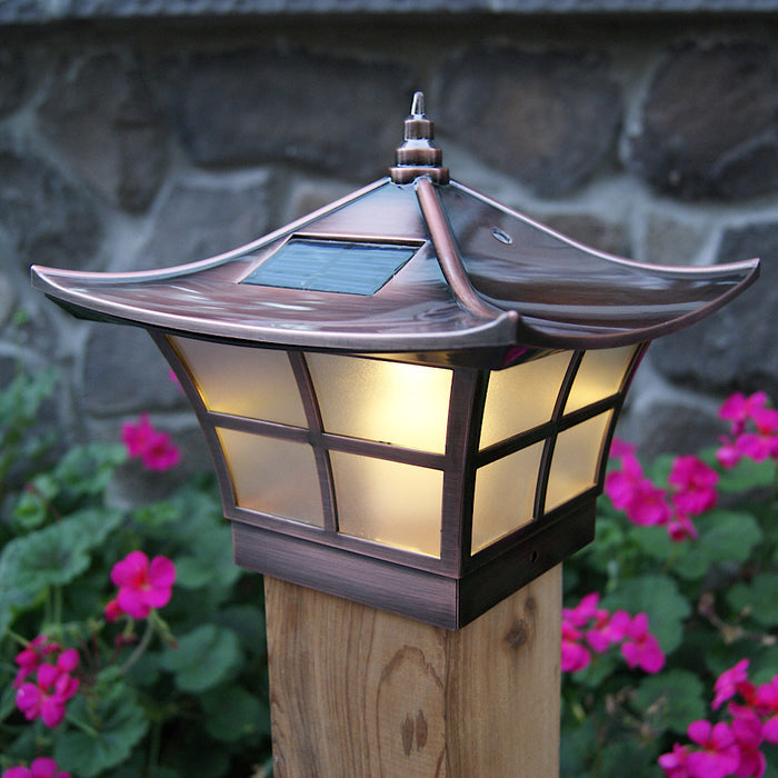 Ambience Copper Plated Solar Post Cap