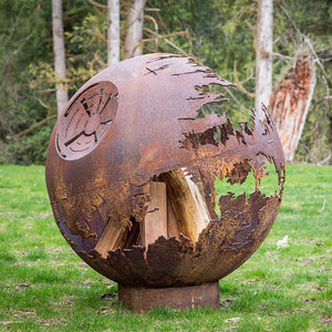 Death Star Wood Burning Fire Sphere