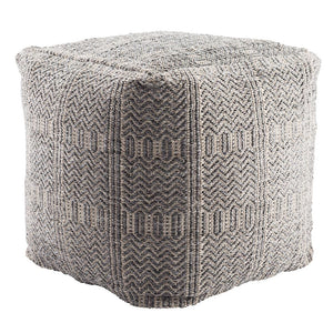 Destrie Outdoor Pouf - Gray | Jaipur Living