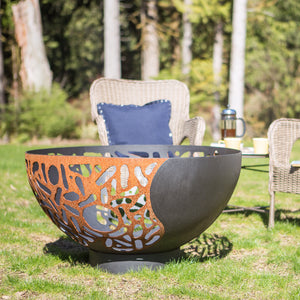 Blended Forces Fire Pit by Cedar Creek Sculptures