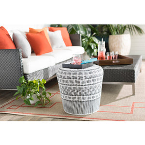 Parkdale Garden Stool by Surya in Charcoal